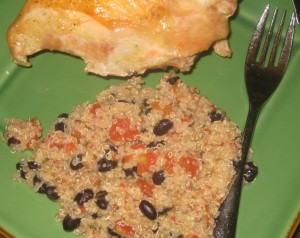 Quinoa, Black Beans, and Tomatoes in a Citrus Ginger Vinaigrette Recipe