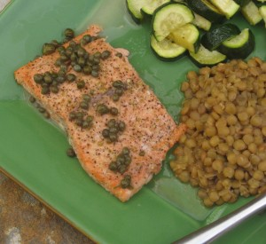 Roasted Salmon Recipe with Lemon Caper Butter Sauce